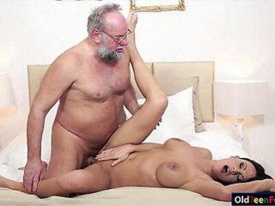 banged  busty  dude  grandpa   porn video
