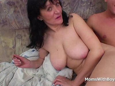 busty cock mother son  porn video