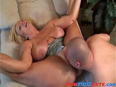bbw blonde chubby moaning  porn video
