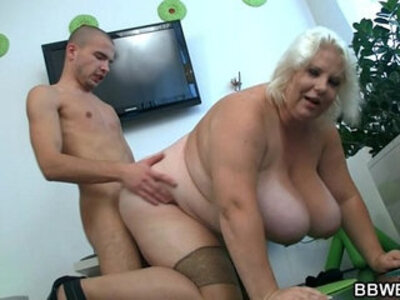 bbw  blonde  lady   porn video
