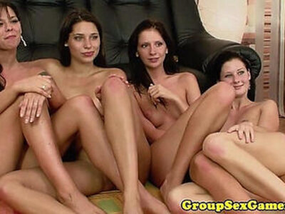 group lesbian pussy eating  porn video