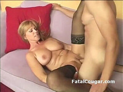 amazing  big boobs  blonde  cougar   porn video