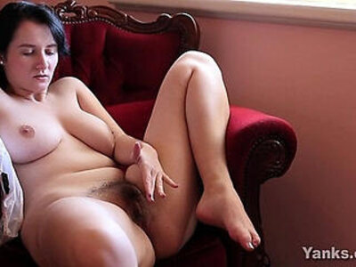 brunette busty clit hairy  porn video