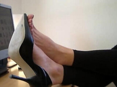 foot  high heels  office   porn video