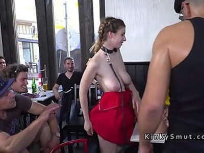 boobs  busty  public  punishment   porn video
