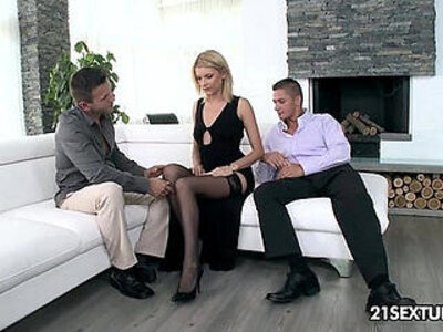 blonde dick double  porn video