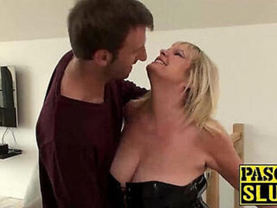 blonde drilling housewife leather  porn video