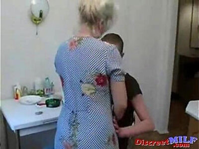 granny  kitchen  naughty  older   porn video