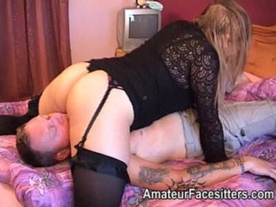 blonde  facesitting  stockings  thick   porn video