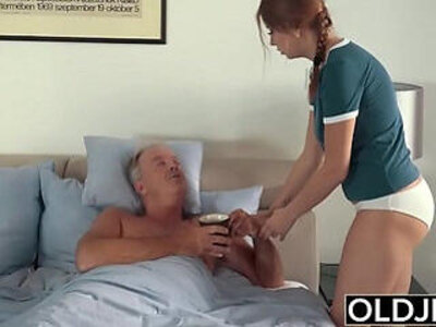 cum daddy fingering old and young  porn video