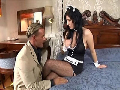 fishnets  maid  milf  stockings   porn video